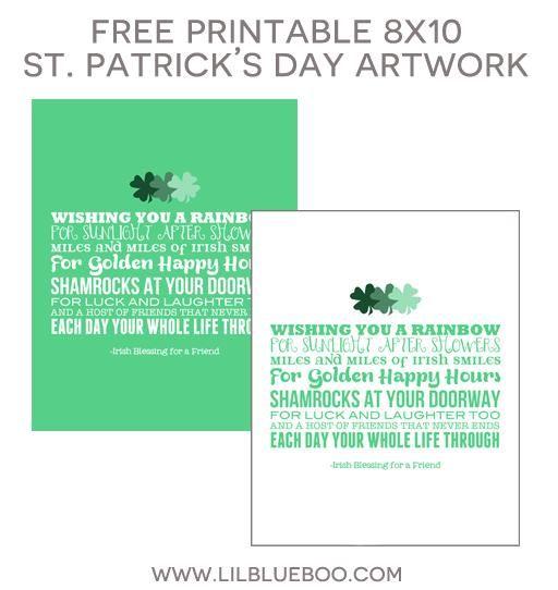 Free St. Patrick's Day 8x10 Printable Artwork via Ashley Hackshaw / lilblueboo.com
