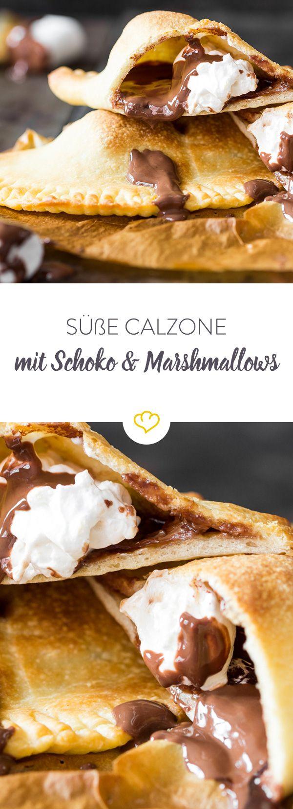 Wie jetzt? Süße Calzone? Und was für eine - gefüllt mit schmelzender Schokolade und süßen Marshmallows sind diese kleinen Taschen eine süße Wucht.