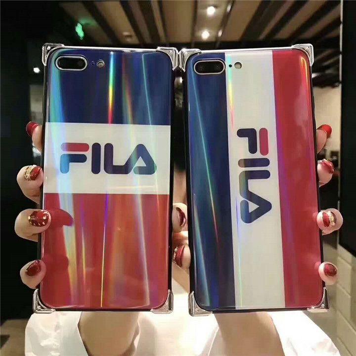 c3756cc3fee9e5 かっこいいフィラ iphonexケース 鏡面 韓国人気 FILA iphonexs/xsplus保護ケース ブランド アイフォン9