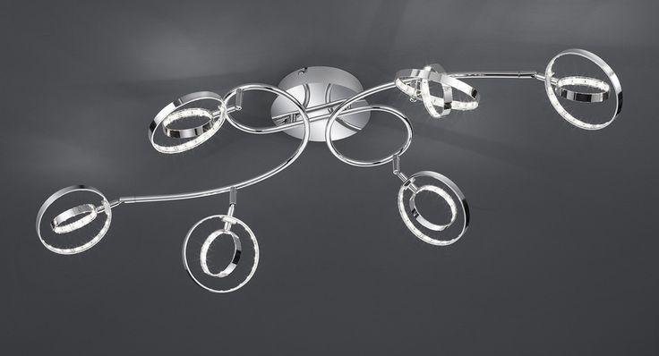 Prater kattovalaisin 6-os. LED 6x4 W    Lampun tyyppi: 6 × SMD 4 W  LED (sis.toimitukseen)  Jännite: 230V  Valoteho: 6 x 400 lumenia  Valon sävy: 3000 kelviniä (lämmin valkoinen)  Kotelointiluokka: IP20 (kuivaan tilaan)  Rungon materiaali: Metalli  Rungon väri: kromi  Korkeus: 23 cm  Pituus: 98 cm  Leveys: 25 cm  Takuu: 5 vuotta