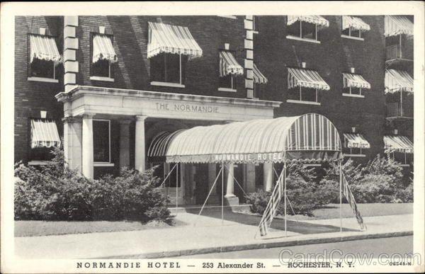 1941 Normandie Hotel Rochester New York 253 Alexander Street