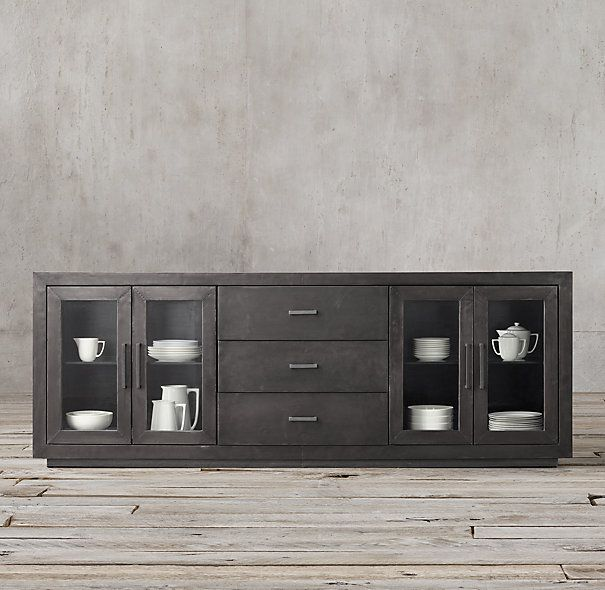 La Salle Metal Wrapped 91 Glass Sideboard