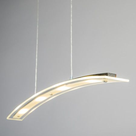 Lampa wisząca Curved chrom #designlampa #nowoczesnelampy #lampyled