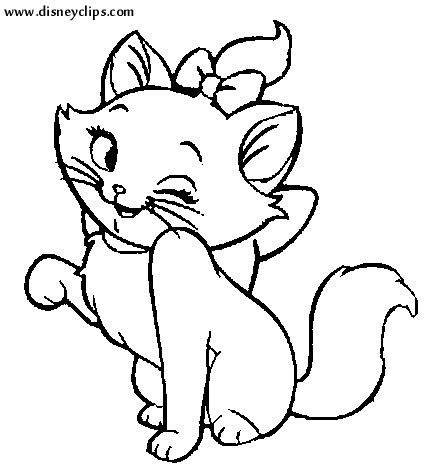 the aristocats colouring cutare google - Aristocats Kittens Coloring Pages