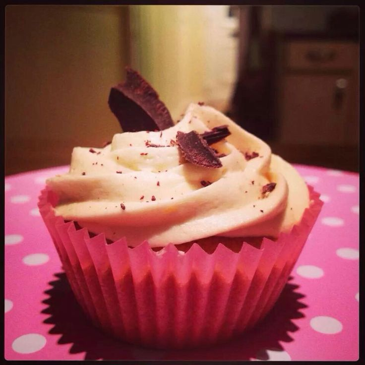 Baileys and Dark chocolate cupcake