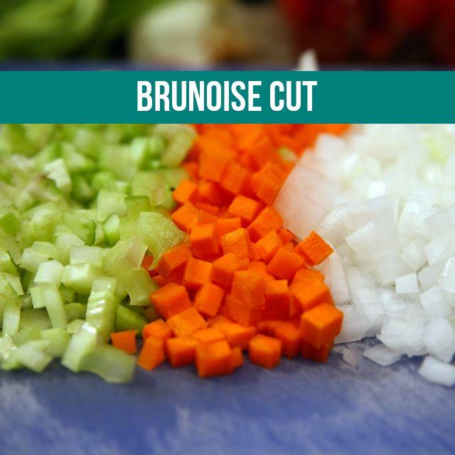 Knife Cuts Brunoise Cut Rahul Pinterest Cut Recipe Food And