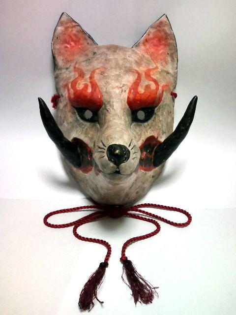 how to make a kitsune mask