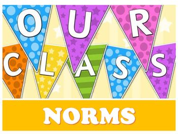 Directions:Develop class norms with students by creating a pennant banner to…