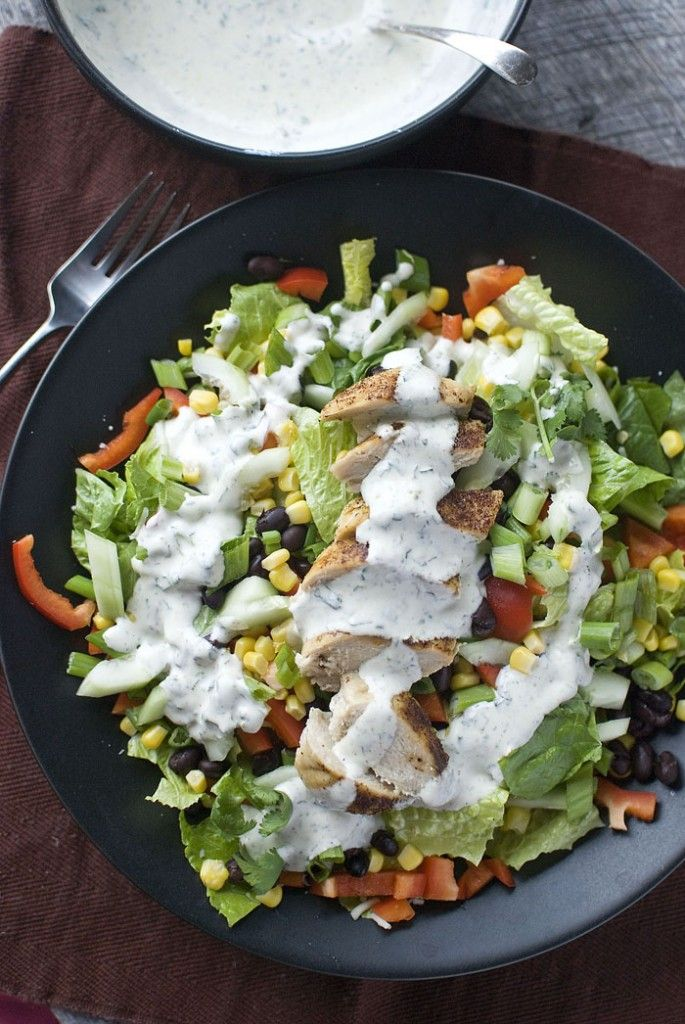Southwest Salad with Spicy Cilantro Dressing - I am interested in the dressing!!