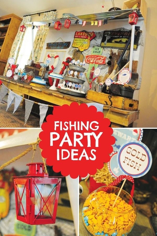 Fishing Themed Kids Birthday Party Ideas