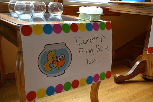 "Photo 26 of 59: Sesame Street / Birthday ""Alyssa's 2nd Birthday"" | Catch My Party  dorothys ping pong toss"