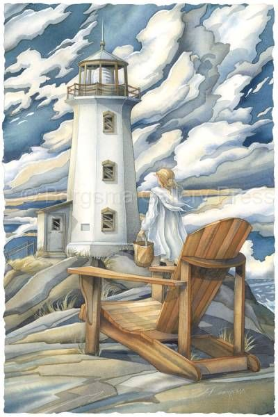 Let Love Be The Light That Leads You Home by Jody Bergsma ~ lighthouse ~ girl
