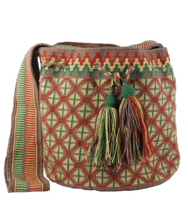 Wayuu tapestry crochet bag