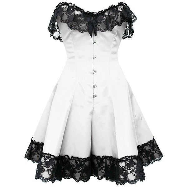 Corset Super Store Women's gc1042 Skirted Corset ($100) ❤ liked on Polyvore featuring dresses, short dresses, vestidos, corset, mini dress, corsette dress, short corset dresses and corset cocktail dress