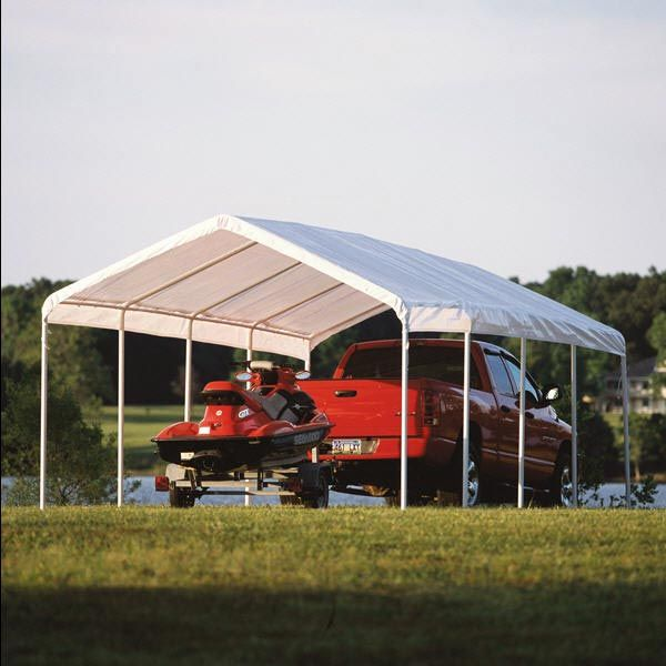 Shelterlogic 12 Ft X 26 Ft White Canopy Replacement Cover Fits 2 In Frame Canopy Outdoor Patio Canopy Backyard Canopy