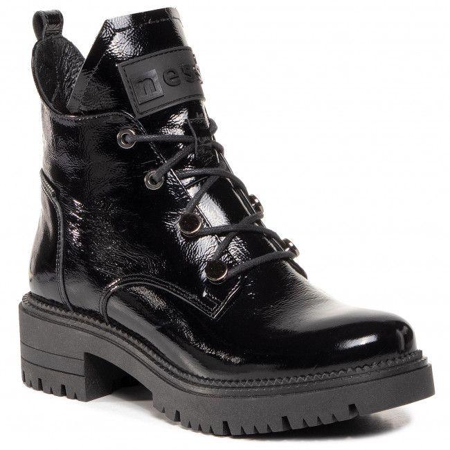 Botki Nessi 20748 Czarny 711 Botki Kozaki I Inne Damskie Eobuwie Pl Boots Fashion Boots Combat Boots