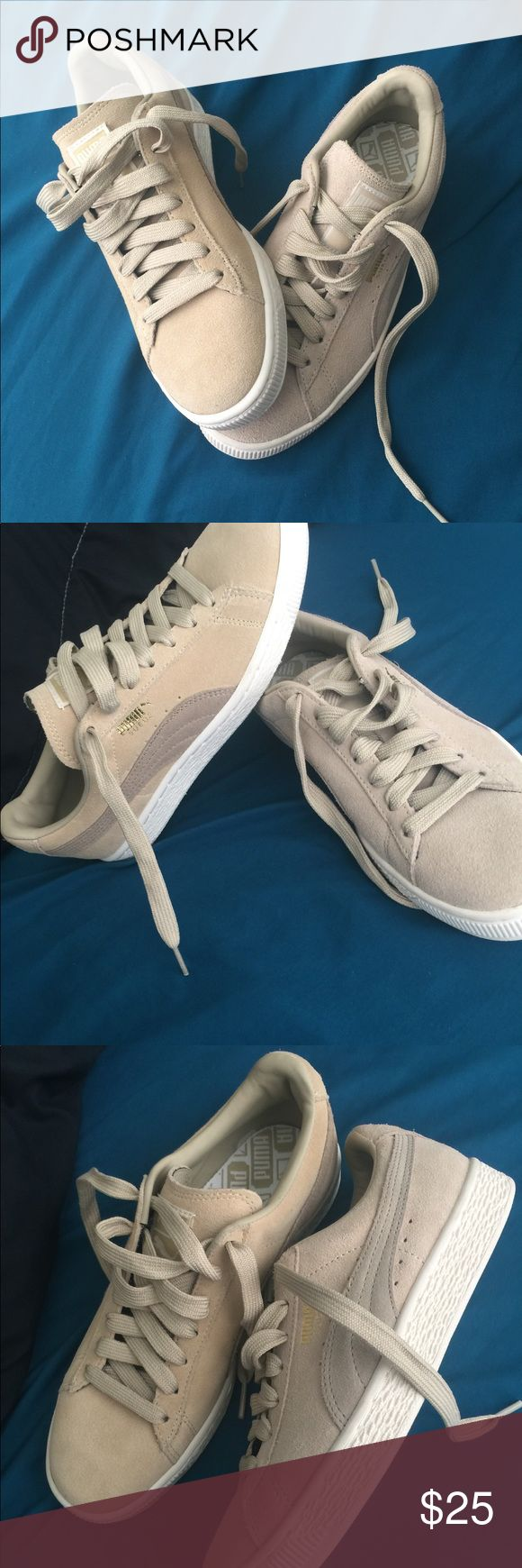 Brand New Pumas🎀 •brand new never worn •no box without tags  •discount price due to factory defect  •shoes are authentic  •are as pictured slight defect Puma Shoes Sneakers