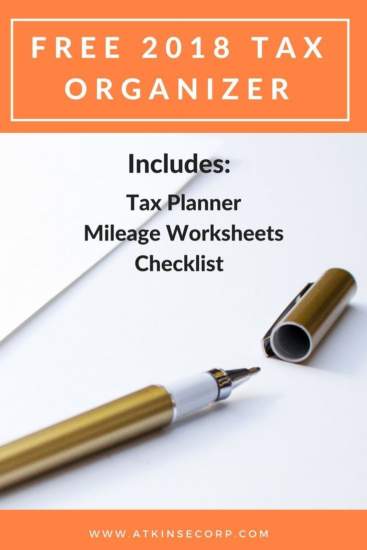 Downloadable Tax Organizer For 2018 Income Tax Preparation