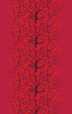 red Lumimarja - Marimekko fabric