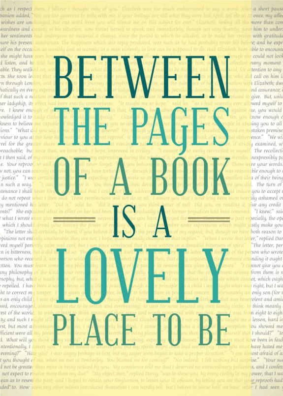 Reading Print   Between The Pages Of A Book Is A Lovely Place To Be   Book  Quote Print   Bibliophile Typography From FlourishCafe On Etsy.