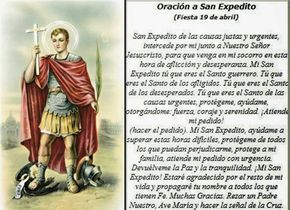 ORACIÓN A SAN EXPEDITO PARA PETICIONES