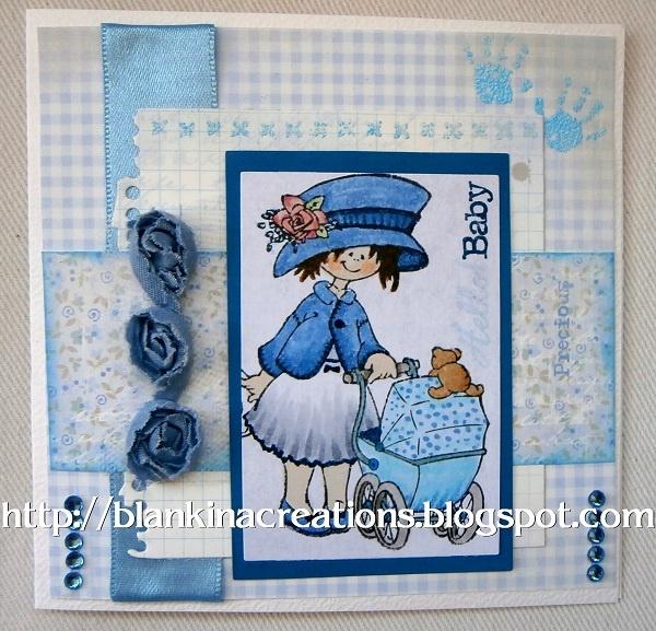 baby boy card with Snoesje