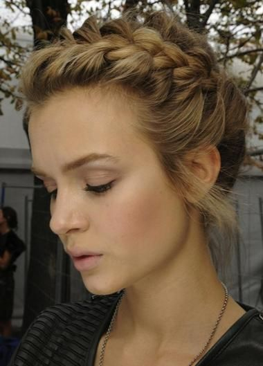 101 Braid Hairstyles You Need to Know | Beauty High.................We live for braided updos, particularly one that has the romantic texture of this beautiful, upswept style. Be sure to secure with tonal bobby pins and spray flexible-hold hairspray on the hair before you braid to help give this style staying power.