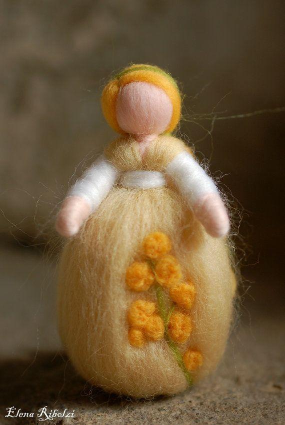 Mimosa Waldorf inspired fairytale wool by LeBambinediCaldalana