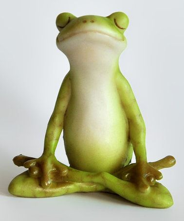Love this Meditation Lotus Pose Yoga Frog Figurine on #zulily! #zulilyfinds