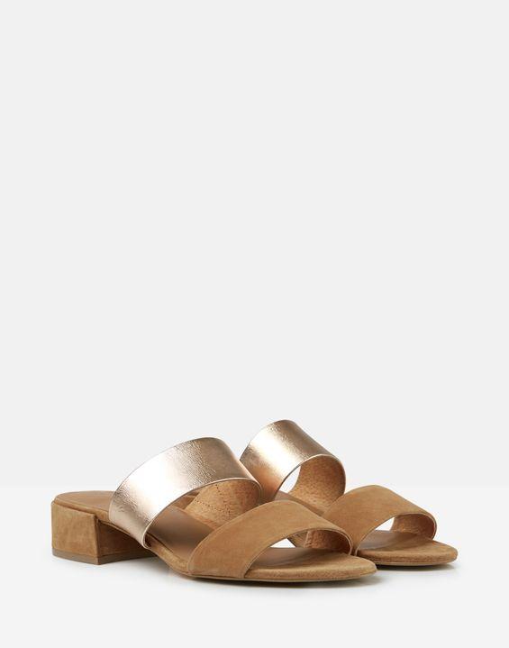 aec33c0733 Kayleigh Block Heel Sandals in 2019   Women's Shoes & Boots   Gold ...