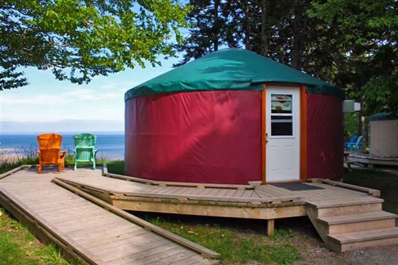 Yurts at Fundy National Park. Photo Credit G. Mazerolle - Parks Canada