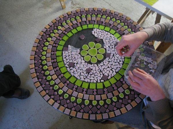 table mosaique recherche google mosaiques tables. Black Bedroom Furniture Sets. Home Design Ideas