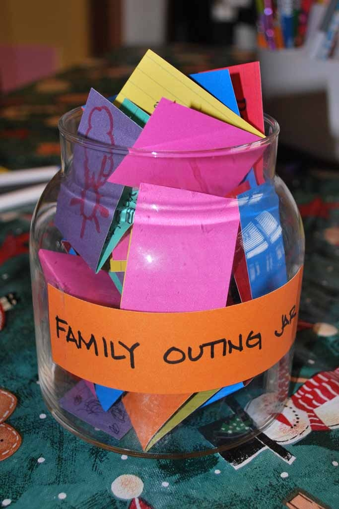 Family Outing Jar........great idea!
