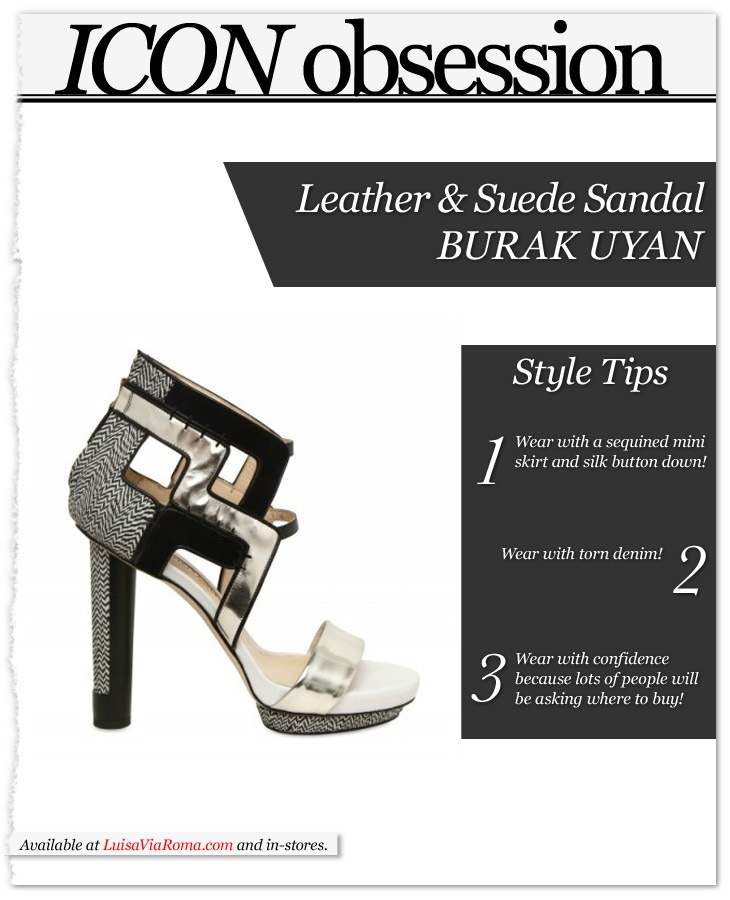 Burak Uyan WOWS w/ these leather and suede sandals...#OBSESSED! Avail. at @Luisaviaroma http://bit.ly/HNTWPx #fashion