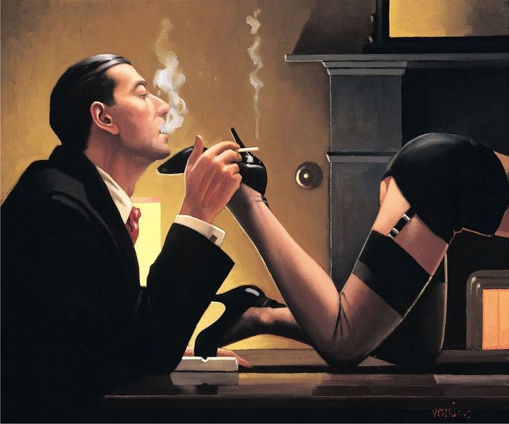 Jack Vettriano, OBE is a Scottish painter. His 1992 painting, The Singing Butler, became a best-selling image in Britain. For biographical notes -in english and italian- and other works by Vettriano see: Jack Vettriano, 1951 | Realist / Figurative / Genre painter ➦