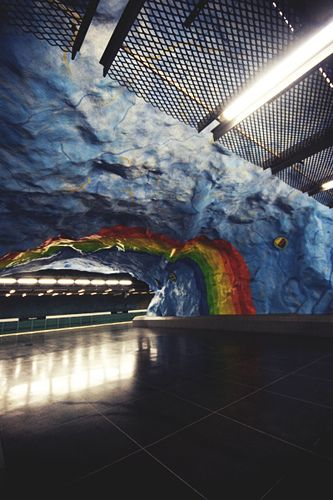 Stanice metra Tunnelbana ve Stockholmu