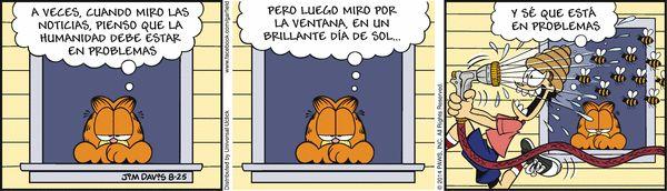 Garfield en Español (Spanish) Comic Strip, August 25, 2014 on GoComics.com