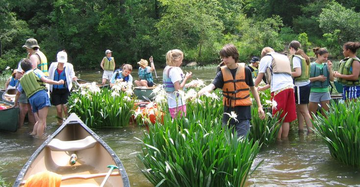 Cahaba river canoeing trip.