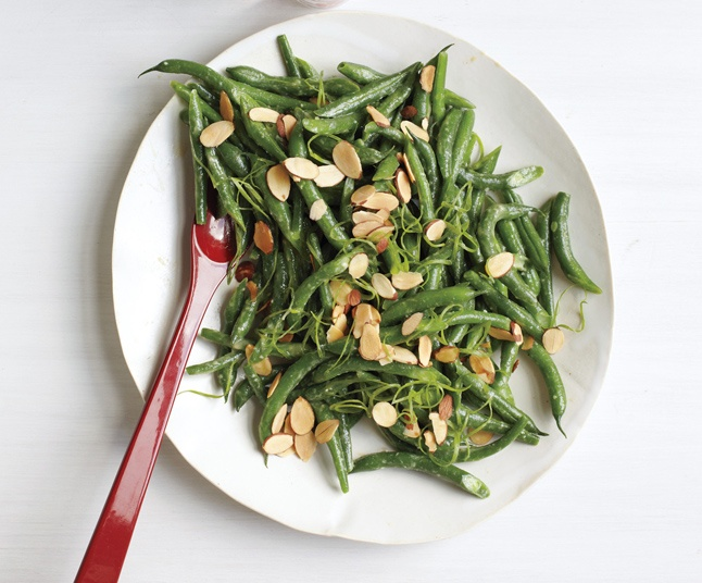 Green Beans with Miso and Almonds | Recipe