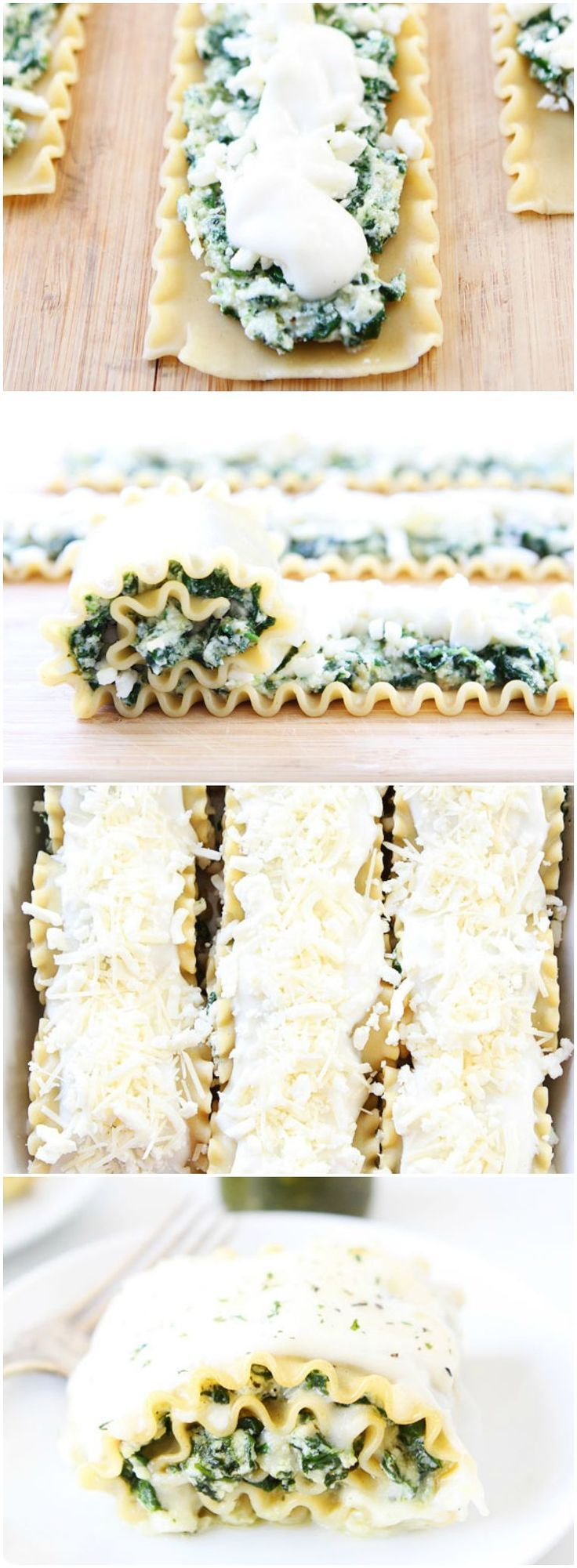 Pesto Lasagna Roll Ups Recipe on twopeasandtheirpo... One of our favorite meals! Love this twist on classic lasagna! And the roll ups freeze well too!