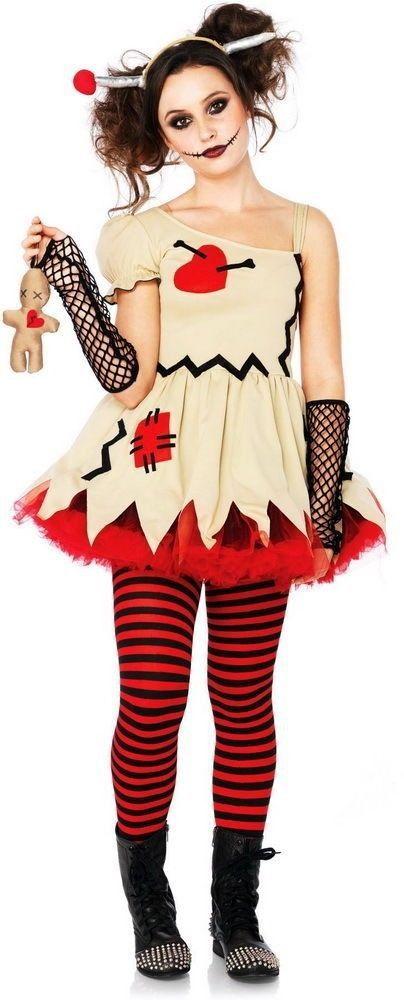 Girls+Creepy+Voodoo+Doll+Ragdoll+Dress+Outfit+Kids+Teen+Girls+Halloween+Costume++#LegAvenue+#CompleteCostume