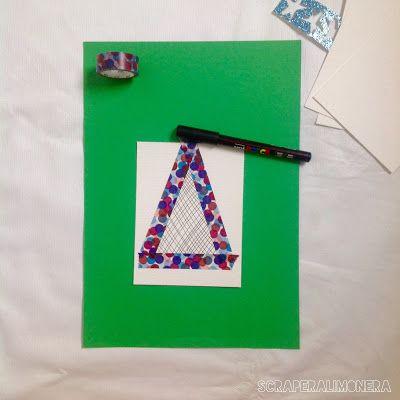 Tutorial para hacer una tarjeta de Navidad exprés #scrapbooking #christmascard #navidad