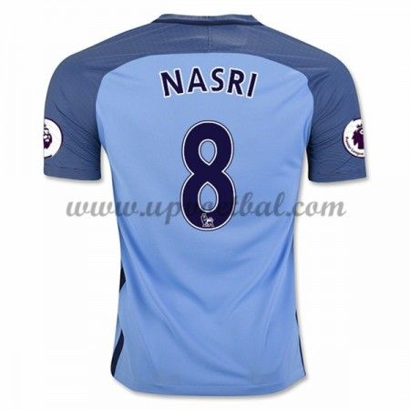 Manchester City 2016-17 Nasri 8 Thuis Tenue Goedkope Voetbalshirts Clubs