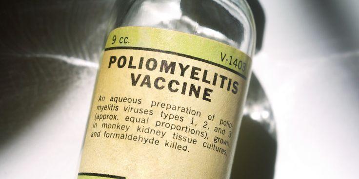Vaccine Clinical Trials - Poliomyelitis vaccine vial