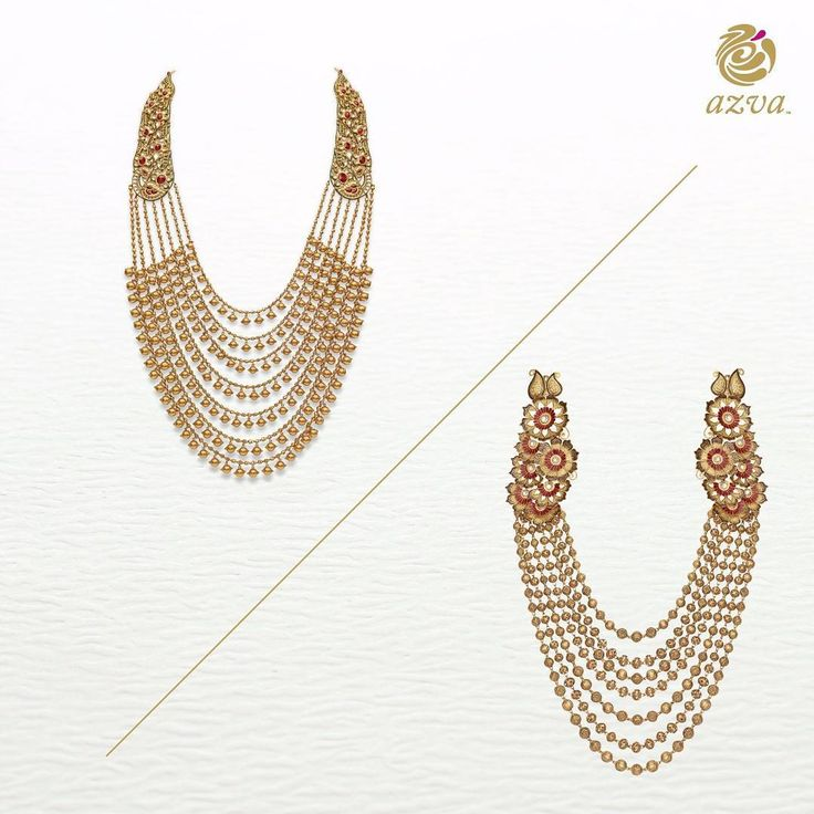 Handcrafted gold jewellery ornaments the  modern bridal vista in a luxurious flair. Azva presents opulent seven row haars designed for life beyond the locker.  Click the link in bio to discover the collection.  #goldjewellery #indianbride #goldnecklace #contemporarystyle #bridalstyle  #saturdaystyle #azvavows #weddinglook #bridallook #weddingjewelley #bridaljewellery #handcrafted #jewellery #greatindianweddings #bridalfashion #luxurybrand #lifestyle #luxurystyle #craftsmanship #jewellerygram…