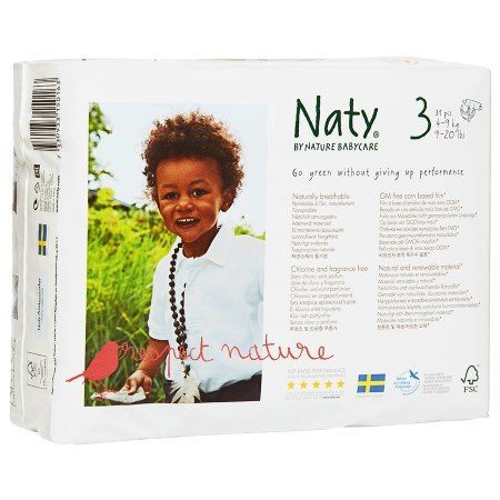 Naty by Nature babycare Eco-Diapers Size 3, 9-20lbs, 4 pk - 31 ea