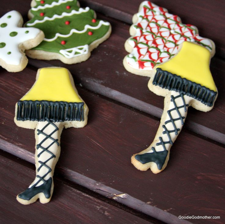 Leg Lamp Cookie Decorating Tutorial and a recipe for Eggnog Sugar Cookies  by Goodie Godmother