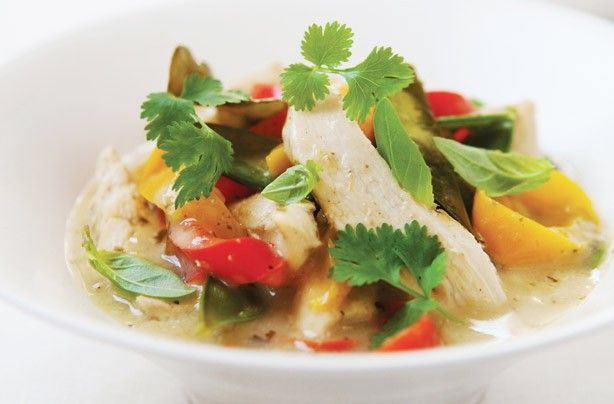 Hairy Bikers' Thai chicken and coconut curry - 150 family dinners under 500 calories