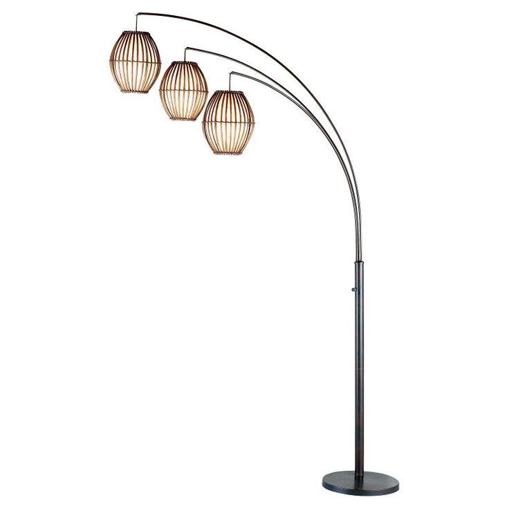 adesso maui arc lamp antique bronze - Unique Floor Lamps