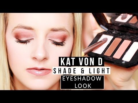 eyeshadow look kat von d shade and light for blue eyes – YouTube